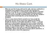 his illness cont