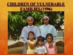 children of vulnerable families 1996