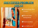 identified problem areas