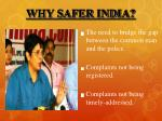 why safer india