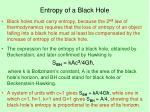 entropy of a black hole