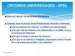 criterios universidades opsu