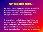 why adjectives matter