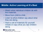 middle active learning at it s best
