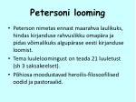 petersoni looming