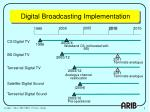 digital broadcasting implementation