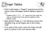 finger tables