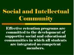 social and intellectual community