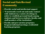 social and intellectual community1