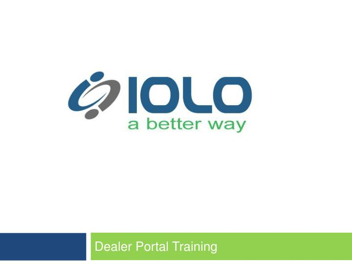 dealer portal training n.