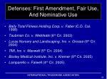 defenses first amendment fair use and nominative use2