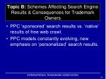 topic b schemes affecting search engine results consequences for trademark owners