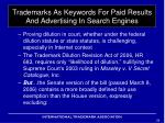 trademarks as keywords for paid results and advertising in search engines10