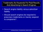 trademarks as keywords for paid results and advertising in search engines15