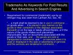 trademarks as keywords for paid results and advertising in search engines2