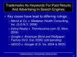 trademarks as keywords for paid results and advertising in search engines3