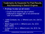 trademarks as keywords for paid results and advertising in search engines4