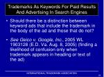 trademarks as keywords for paid results and advertising in search engines5