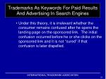 trademarks as keywords for paid results and advertising in search engines7