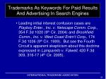 trademarks as keywords for paid results and advertising in search engines8