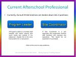 current afterschool professional
