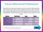 future afterschool professional