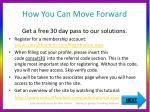 how you can move forward