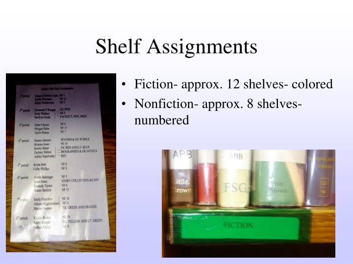Shelf Assignments