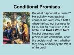 conditional promises
