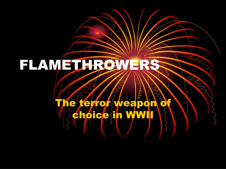 flamethrowers n.