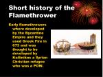 short history of the flamethrower