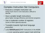 complex instruction set computers