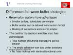 differences between buffer strategies