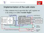 implementation of the safe state