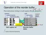 operation of the reorder buffer
