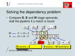 solving the dependency problem