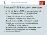 standard cisc instruction execution