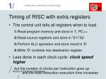 timing of risc with extra registers
