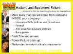 hackers and equipment failure