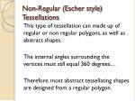 non regular escher style tessellations