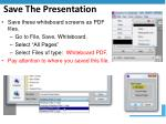save the presentation