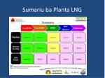 sumariu ba planta lng