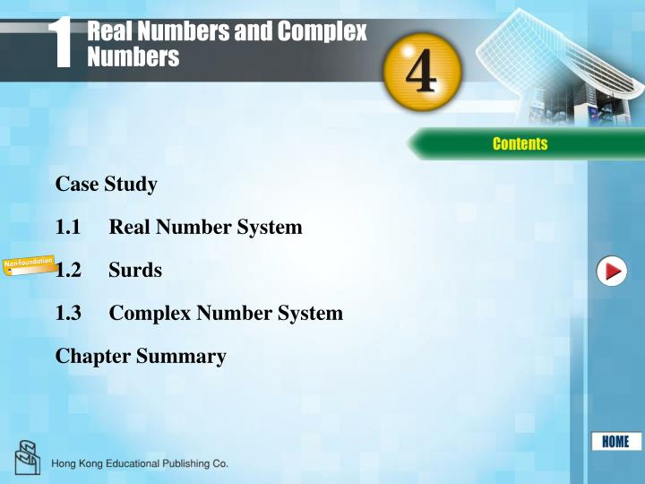 real numbers and complex numbers n.