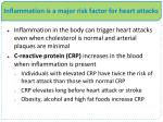 inflammation is a major risk factor for heart attacks