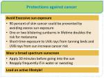 protections against cancer