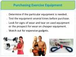 purchasing exercise equipment