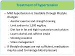 treatment of hypertension