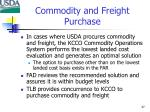 commodity and freight purchase
