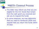m es s closeout process2