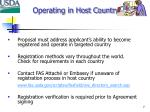 operating in host country